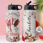 Cardinal Faith Personalized NNR0911025 Stainless Steel Bottle With Straw Lid