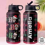 Skull Christmas Personalized DNR0911035 Stainless Steel Bottle With Straw Lid