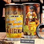 Firefighter Personalized MDA1011004 Stainless Steel Tumbler