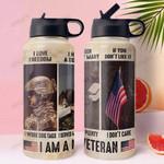 Marine Veteran MDA1011014 Stainless Steel Bottle With Straw Lid