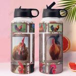 Chicken MDA1011010 Stainless Steel Bottle With Straw Lid