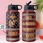 Marine Personalized MDA1011012 Stainless Steel Bottle With Straw Lid