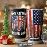 America Faith Personalized PYR1011002 Stainless Steel Tumbler