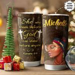 Black Woman Personalized HTC1011001 Stainless Steel Tumbler
