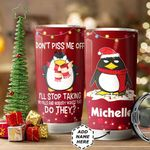 Penguin Christmas Personalized HTQ1011010 Stainless Steel Tumbler