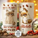 Siamese Cat Personalized HTC1011011 Stainless Steel Tumbler