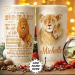 To my Son in Law Personalized HTC1011013 Stainless Steel Tumbler