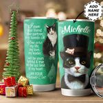 Tuxedo Cat Personalized HTC1011014 Stainless Steel Tumbler