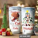 Christmas Black Cat Personalized DNS1011007 Stainless Steel Tumbler