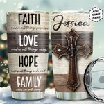 Faith Wooden Background Personalized TAS1011010 Stainless Steel Tumbler