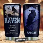 Raven Advice Personalized KD2 ZZL1011013 Stainless Steel Tumbler