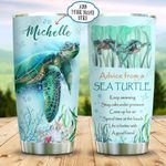 Sea Turtle Blue Personalized KD2 BGX1011007 Stainless Steel Tumbler