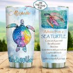 Sea Turtle Advice Personalized KD2 BGX1011005 Stainless Steel Tumbler