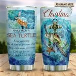 Advice Sea Turtle Wise Personalized KD2 HRX1011003 Stainless Steel Tumbler