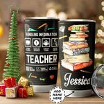 Personalized Teacher Label HHZ1011022 Stainless Steel Tumbler