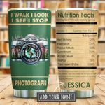 Poster Photographer Nutrition Facts Personalized KD2 KHM1011006 Stainless Steel Tumbler