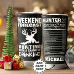 Personalized Hunting Weekend Facts HHZ1011013 Stainless Steel Tumbler