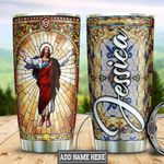Personalized Jesus Stained Glass Style HLZ1011015 Stainless Steel Tumbler