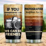 Photographer Friends Nutrition Facts KD2 HNM1011004 Stainless Steel Tumbler
