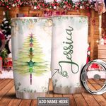 Personalized Christmas Dragonfly HLZ1011008 Stainless Steel Tumbler