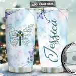 Personalized Butterfly Faith PYZ1011007 Stainless Steel Tumbler