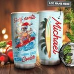 Surfing Santa Personalized PYR1111022 Stainless Steel Tumbler