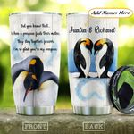 Penguin Couple Personalized KD2 HAL1111011 Stainless Steel Tumbler