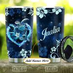Blue Hibiscus Turtle Personalized KD2 HAL1111001 Stainless Steel Tumbler