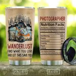 Photographer Nutrition Facts KD2 HAL1111012 Stainless Steel Tumbler