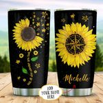 Wander Sunflower Sea Turtle Personalized KD2 BGX1111007 Stainless Steel Tumbler