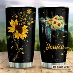 Sunflower Sea Turtle Wander Personalized KD2 HRX1111006 Stainless Steel Tumbler
