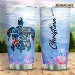 Sea Turtle Beginning Personalized KD2 HRX1111001 Stainless Steel Tumbler