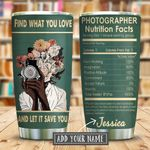 What You Love Nutrition Facts Personalized KD2 KHM1111006 Stainless Steel Tumbler