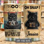 Black Cat Shoot People Photography Personalized KD2 KHM1111001 Stainless Steel Tumbler
