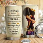 Black Woman Personalized HTC1111002 Stainless Steel Tumbler