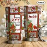 Christmas Bird Personalized HTQ1111007 Stainless Steel Tumbler