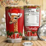 Christmas Giraffe Personalized HTC111106 Stainless Steel Tumbler