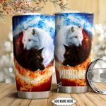 Yingyang Wolf Personalized HTC1111018 Stainless Steel Tumbler