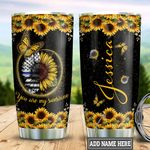 Personalized Sunflower Police TTZ1111022 Stainless Steel Tumbler