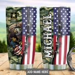 Personalized US Army Eagle Veteran TTZ1111028 Stainless Steel Tumbler