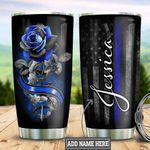 Personalized Rose Police TTZ1111021 Stainless Steel Tumbler