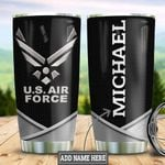 Personalized US Air Force Metal Style HLZ1111027 Stainless Steel Tumbler