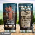 Personalized Trucker Prayer TTZ1111025 Stainless Steel Tumbler