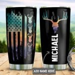 Personalized American Flag Deer TTZ1111005 Stainless Steel Tumbler