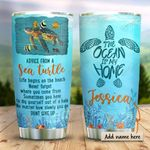 Baby Sea Turtle Personalized KD2 HRX1211004 Stainless Steel Tumbler