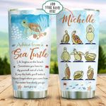 Sea Turtle Yoga Personalized KD2 BGX1211013 Stainless Steel Tumbler