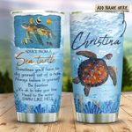 Advice Sea Turtle Personalized KD2 HRX1211001 Stainless Steel Tumbler