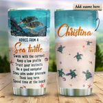 Baby Sea Turtle Advice Personalized KD2 HRX1211003 Stainless Steel Tumbler