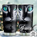 Black Cat 3D Art Personalized TAS1211001 Stainless Steel Tumbler