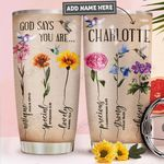 Hummingbird Faith Personalized PYR1211008 Stainless Steel Tumbler